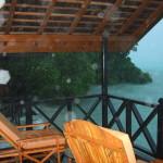 Unsere Hütte im Regen