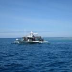 Tauchboot am Apo Reef