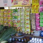 Das typische Waren in Sablayansortiment