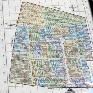 Der Plan vom Friedhof La Recoleta